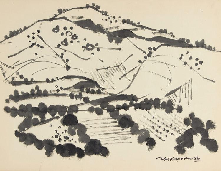 Artwork by Roy Kiyooka,  Mountain and Valley