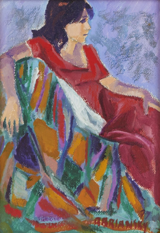 Artwork by Rita Briansky,  Portrait of Woman