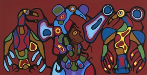 Artwork by Norval Morrisseau, Thunderbird's Spirit