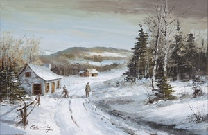 Artwork by Claude Langevin, Winter Chores