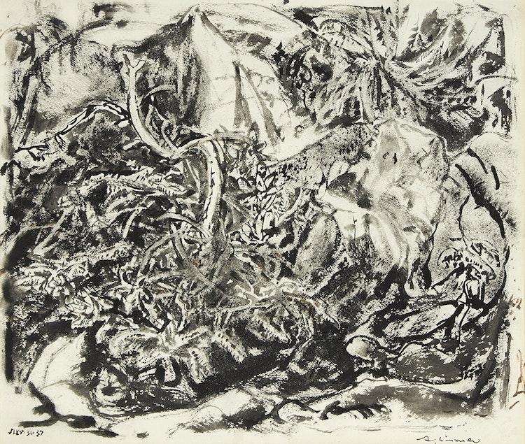 Artwork by Arthur Lismer,  Rock Scrub