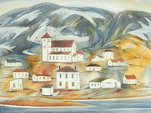 Artwork by Doris Jean McCarthy, Village on the North Shore