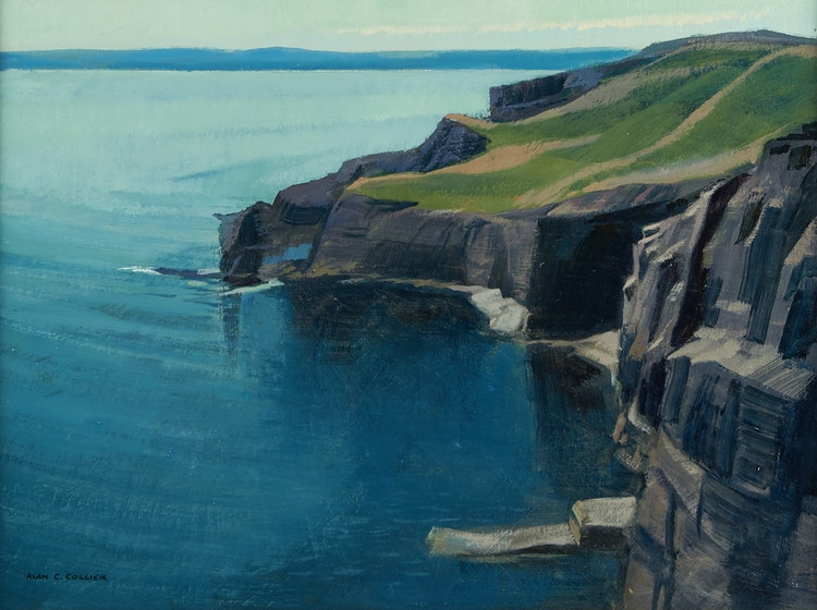 Artwork by Alan Caswell Collier,  Horse Chops, Trinity Bay, Newfoundland