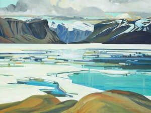 Artwork by Brian Atyeo, A View from Pangnirtung