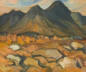 Artwork by Henry George Glyde, On Tree Line, Canadian Rockies, Alta.
