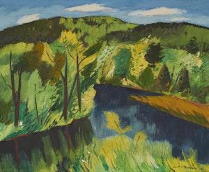 Artwork by Henri Leopold Masson, Pickanock River, P.Q.