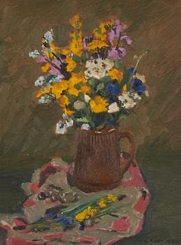 Artwork by William Goodridge Roberts, Jug with Wild Flowers