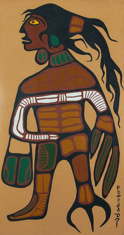 Artwork by Norval Morrisseau,  Warrior