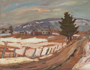 Artwork by Ralph Wallace Burton, Spring Near Ripon, Quebec