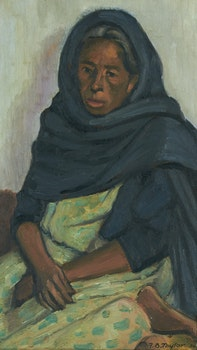 Artwork by Frederick Bourchier Taylor, Mexican Woman, San Miguel de Allende, GTO