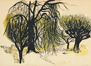 Artwork by Fritz Brandtner, Trees