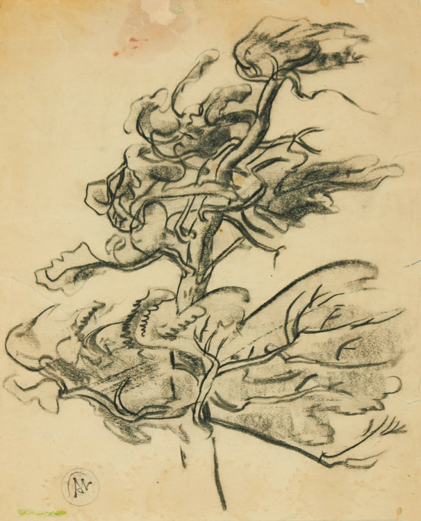 Artwork by Arthur Lismer,  Lone Tree
