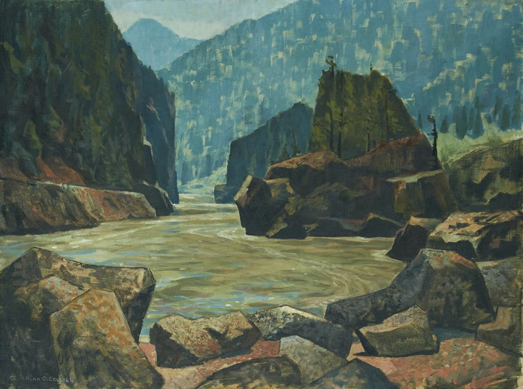 Artwork by Alan Caswell Collier,  Fraser Canyon, BC