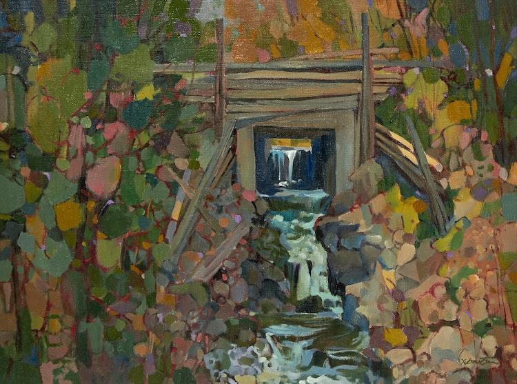 Artwork by Donald Mackay Houstoun,  Spillway, Flesherton, Ontario