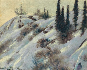Artwork by Frank Hans Johnston, Cold Afternoon, Great Bear Lake, N.W.T.