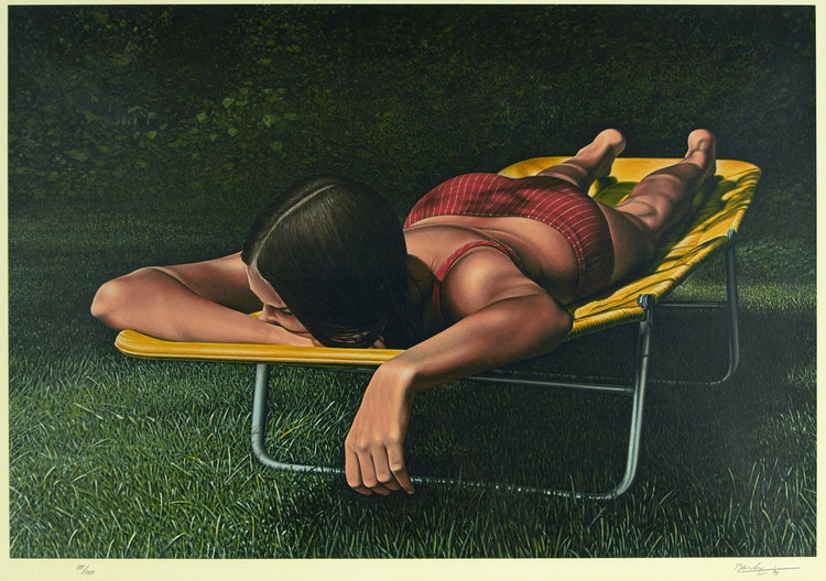 Artwork by Kenneth Danby,  Sunning