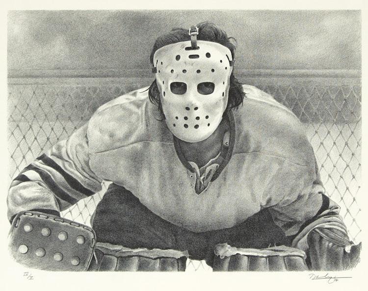 Artwork by Kenneth Danby,  The Goalie