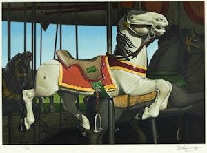 Artwork by Kenneth Danby, White Stallion
