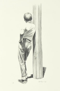 Artwork by Kenneth Danby, Boy in Thought
