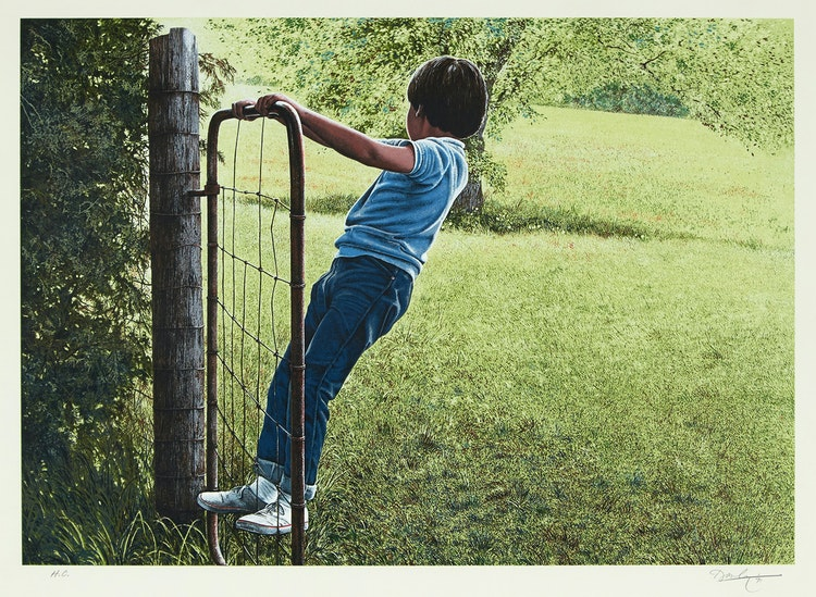 Artwork by Kenneth Danby,  On the Gate