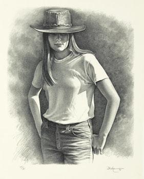 Artwork by Kenneth Danby, Summer Girl