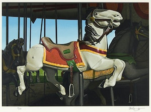 Artwork by Kenneth Danby, White Stallion