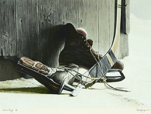 Artwork by Kenneth Danby, The Skates