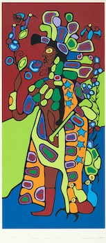Artwork by Norval Morrisseau, Shaman Astral Guide II