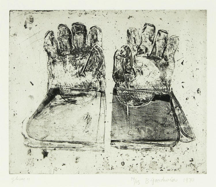Artwork by Betty Roodish Goodwin,  Gloves II