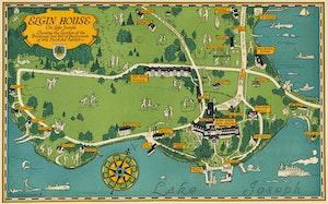 Artwork by Stanley Francis Turner, Map of Elgin House on Lake Joseph