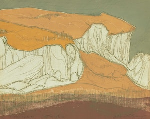 Artwork by Anne Meredith Barry, Nipigon Rocks #2
