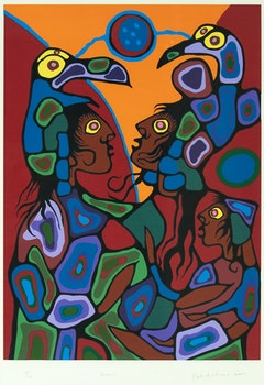 Artwork by Norval Morrisseau, Family