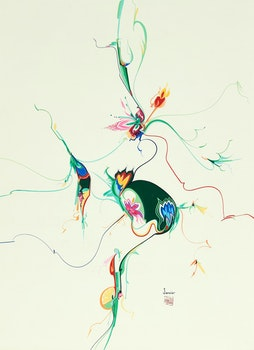 Artwork by Alex Simeon Janvier, Post China #2