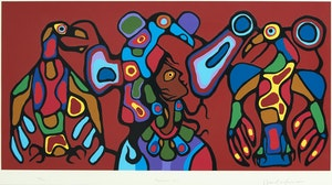 Artwork by Norval Morrisseau, Thunderbird's Sprit