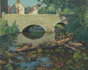 Artwork by Stanley Royle, River Roche at Stowe