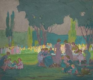 Artwork by Emily Louise Orr Elliott, Celebration on the Green