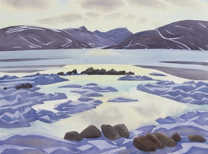 Artwork by Doris Jean McCarthy, Evening at Pangnirtung (1989)