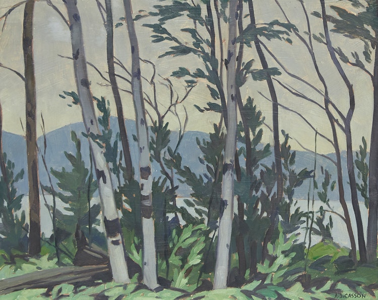Artwork by Alfred Joseph Casson,  Shoreline, Lake Kamaniskeg