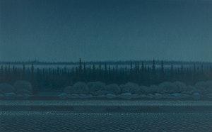 Artwork by Christopher Pratt, Night on the River
