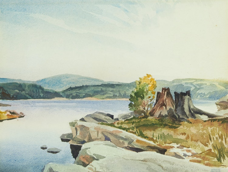 Artwork by Joachim George Gauthier,  Morning Light, Lake Kushog
