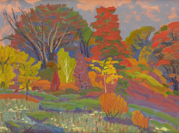 Artwork by Illingworth Holey Kerr,  Ontario Autumn (Near Bancroft, Ont.), 1973