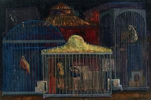 Artwork by Jesus Carlos De Vilallonga, Caged Birds