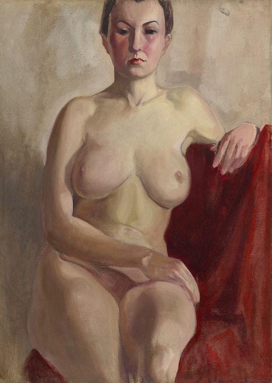 Artwork by John Goodwin Lyman,  Portrait of Marcelle (circa 1935)