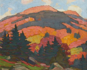 Artwork by Peter Clapham Sheppard, Autumn in the Laurentians