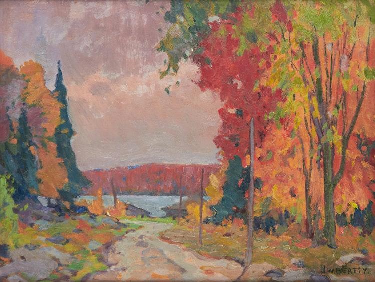 Artwork by John William Beatty,  Beaver Lake, Parry Sound