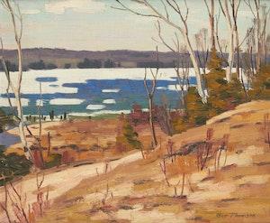 Artwork by George Thomson, Harbor at Owen Sound