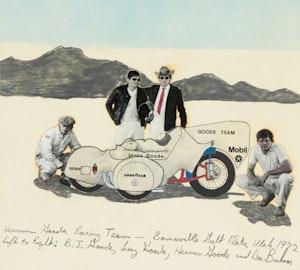 Artwork by Don Bonham, Hennan Goode Racing Team, Bonneville Salt Flats, Utah, 1972