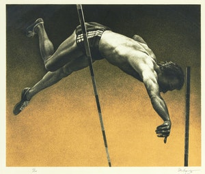 Artwork by Kenneth Danby, The Vaulter