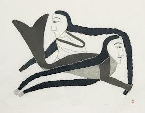 Artwork by Kenojuak Ashevak, Comparing Braids