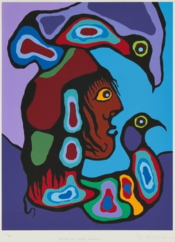 Artwork by Norval Morrisseau, Folio of Six Prints